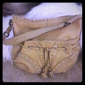 Cole Haan VINTAGE grommet leather handbag